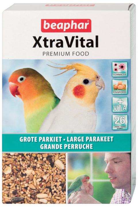 Krmivo BEAPHAR XtraVital pro střední papoušky 500g - krátká expirace