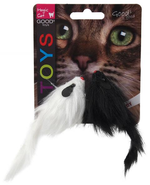 Hračka Magic Cat myš plyšová chrastící 11cm 2ks title=