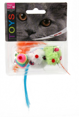 Hračka Magic Cat myš duhová 7,5cm 3ks