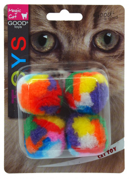 Hračka Magic Cat míček 3,75cm 4ks