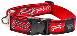 Obojek ROGZ Fancy Dress Red Bone XXL