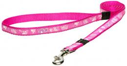 Vodítko ROGZ Fancy Dress Pink Paw M