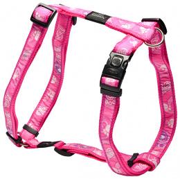 Postroj ROGZ H Fancy Dress Pink Paw XL