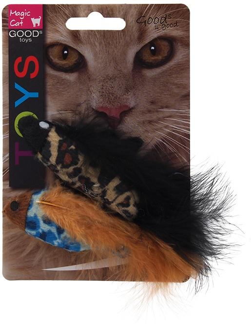 Hračka MAGIC CAT rybka se vzorem a catnipem chrastící 11cm
