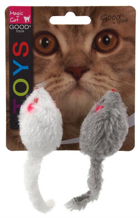 Hračka MAGIC CAT myšky chrastící s catnipem 11cm title=