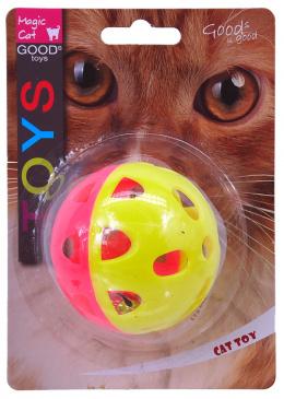 Hračka MAGIC CAT míček neonový jumbo s rolničkou 6cm