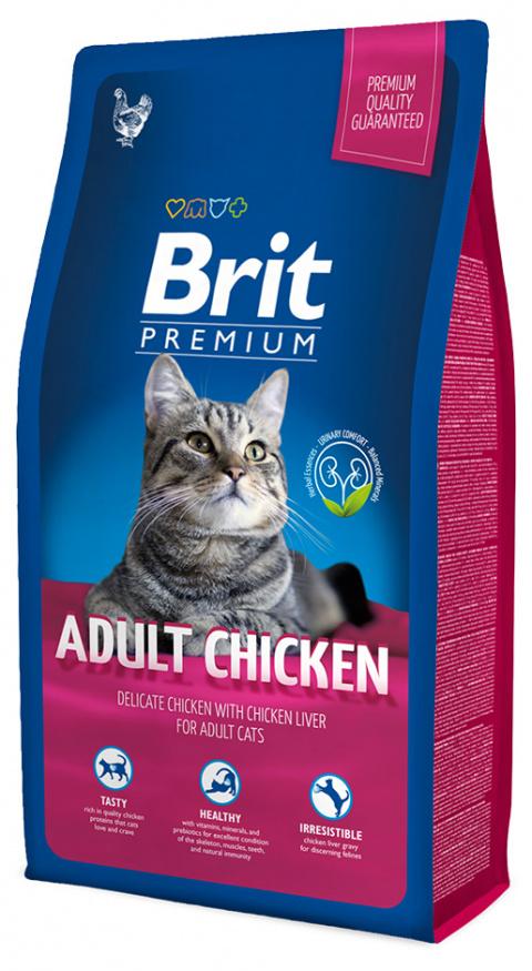 BRIT Premium Cat Adult Chicken 8kg title=