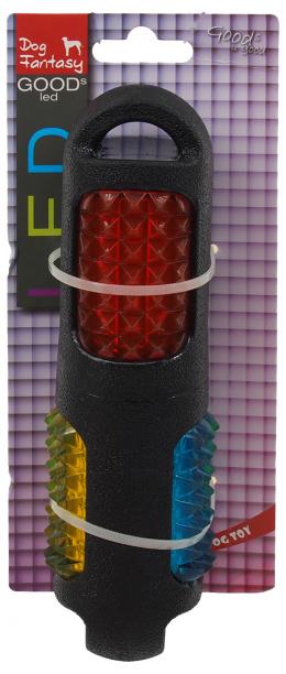 Hračka Dog Fantasy TPR LED aport kolík černá 19cm
