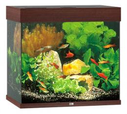 Akvárium set Lido LED 120 tm. hnědé