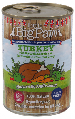 Konzerva Little Big Paw krůta 390g