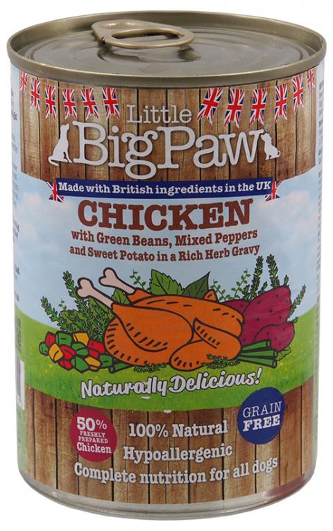 Konzerva Little Big Paw kuře 390g title=