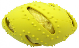 Hračka Dog Fantasy TPR rugby míč žlutá 16cm