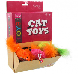 Hračka Magic Cat myška bavlna s catnip 6cm 40ks