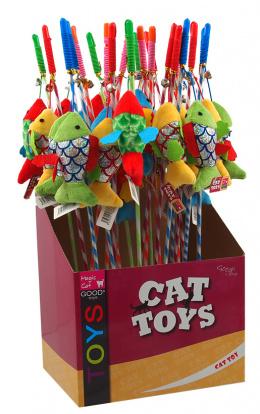 Hračka Magic Cat šidítko rybka bavlna s catnip 11cm+45cm