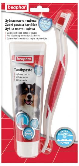 Kombipack zubní pasta + kartáček Beaphar