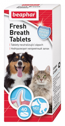 Tablety pro svěží dech Beaphar Fresh Breath 40 ks