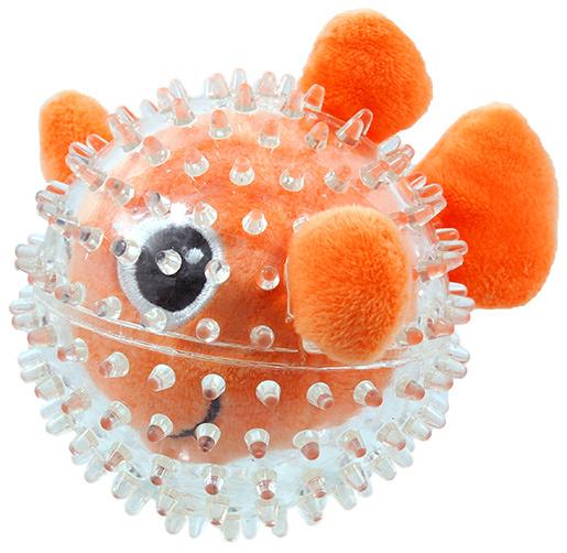 Hračka Dog Fantasy SEA TPR rybka v míčku 9cm