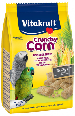 Vitakraft Crunchy corn velký papoušek 50g
