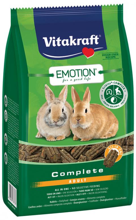 Vitakraft Emotion complete králík adult 800g