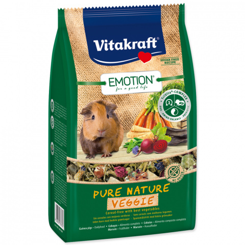 Krmivo Vitakraft Emotion veggie morče 600g