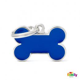 Známka My Family Basic Handmade kost malá modrá