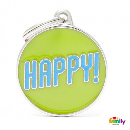 Známka My Family Charms popis HAPPY