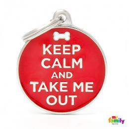 Známka My Family Charms popis KEEP CALM/OUT
