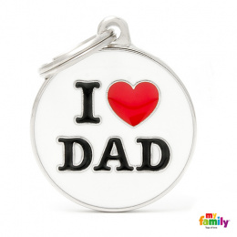 Známka My Family Charms popis I LOVE DAD