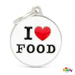 Známka My Family Charms popis I LOVE FOOD