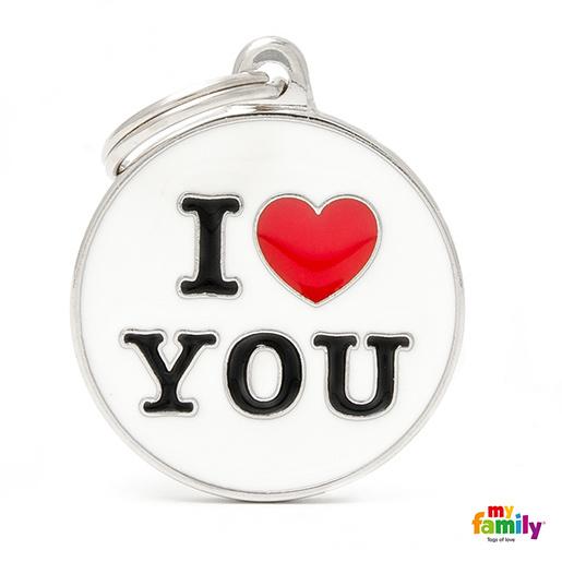 Známka My Family Charms popis I LOVE YOU