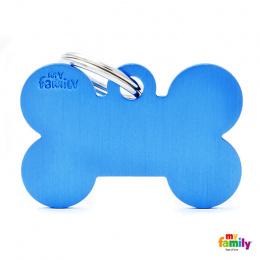 Známka My Family Basic kost velká modrá