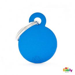 Známka My Family Basic kolečko malé modré