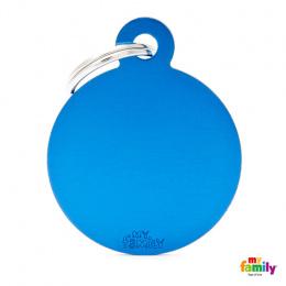 Známka My Family Basic kolečko velké modré