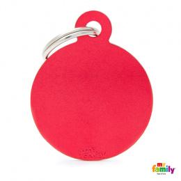 Známka My Family Basic kolečko velké červené