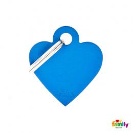 Známka My Family Basic srdce malé modré