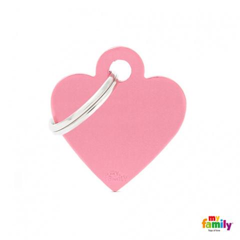Známka My Family Basic srdce malé růžové