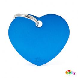 Známka My Family Basic srdce velká modrá