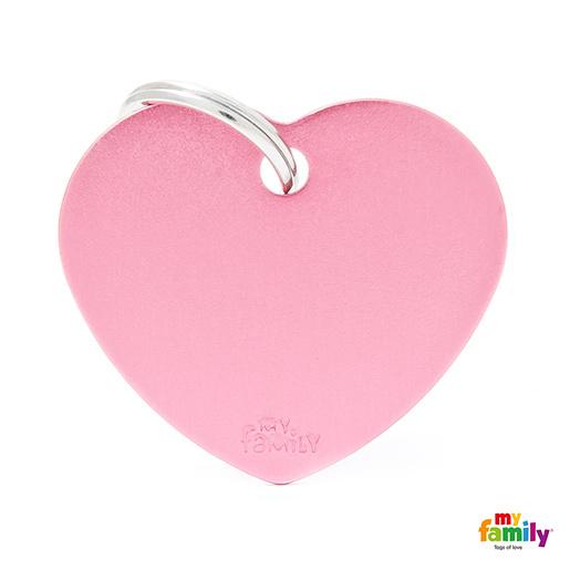 Známka My Family Basic srdce velká růžová