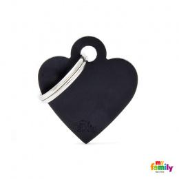 Známka My Family Basic srdce malé černé