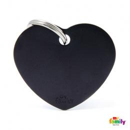 Známka My Family Basic srdce velká černá