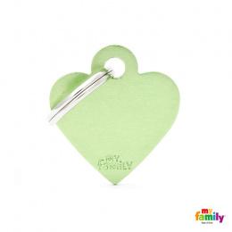 Známka My Family Basic srdce malé zelené