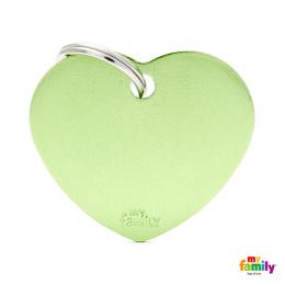 Známka My Family Basic srdce velká zelená