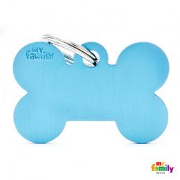Známka My Family Basic kost velká sv. modrá