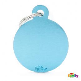 Známka My Family Basic kolečko velké sv.modré