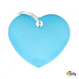 Známka My Family Basic srdce velká sv.modrá