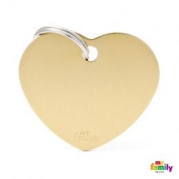 Známka My Family Basic srdce velká zlatá