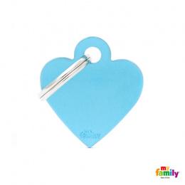 Známka My Family Basic srdce malé sv. modré