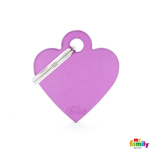 Známka My Family Basic srdce malé fialová