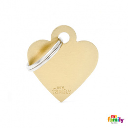 Známka My Family Basic srdce malé zlaté