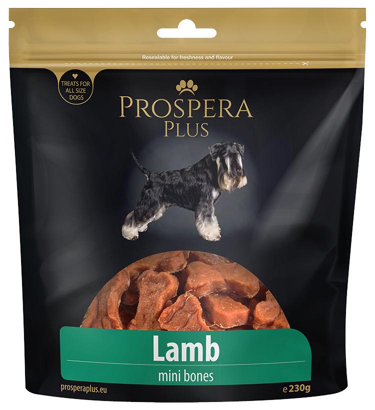Pochoutka Prospera Plus mini kosti z jehněčího masa 230g